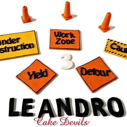 Construction Zone Cake Decorations,..