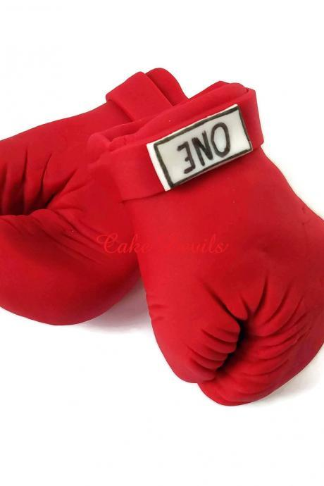 Boxing Gloves Cake Topper, Fondant, Boxing Gloves Cake Decorations, Handmade Edible, sports cake toppers, boxing cake, sports cake, cupcakes